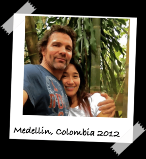 Bill and Naty in Medellin, Colombia