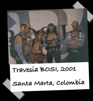 """Naty and her team in Colombia getting ready for an EcoChallenge (It is called """"travesia"""" in Colombia)"""